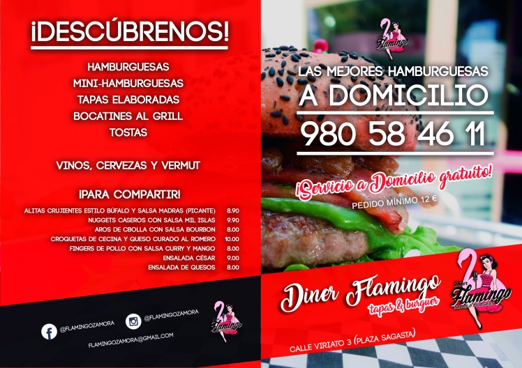Carta Dinner Flamingo Zamora ext