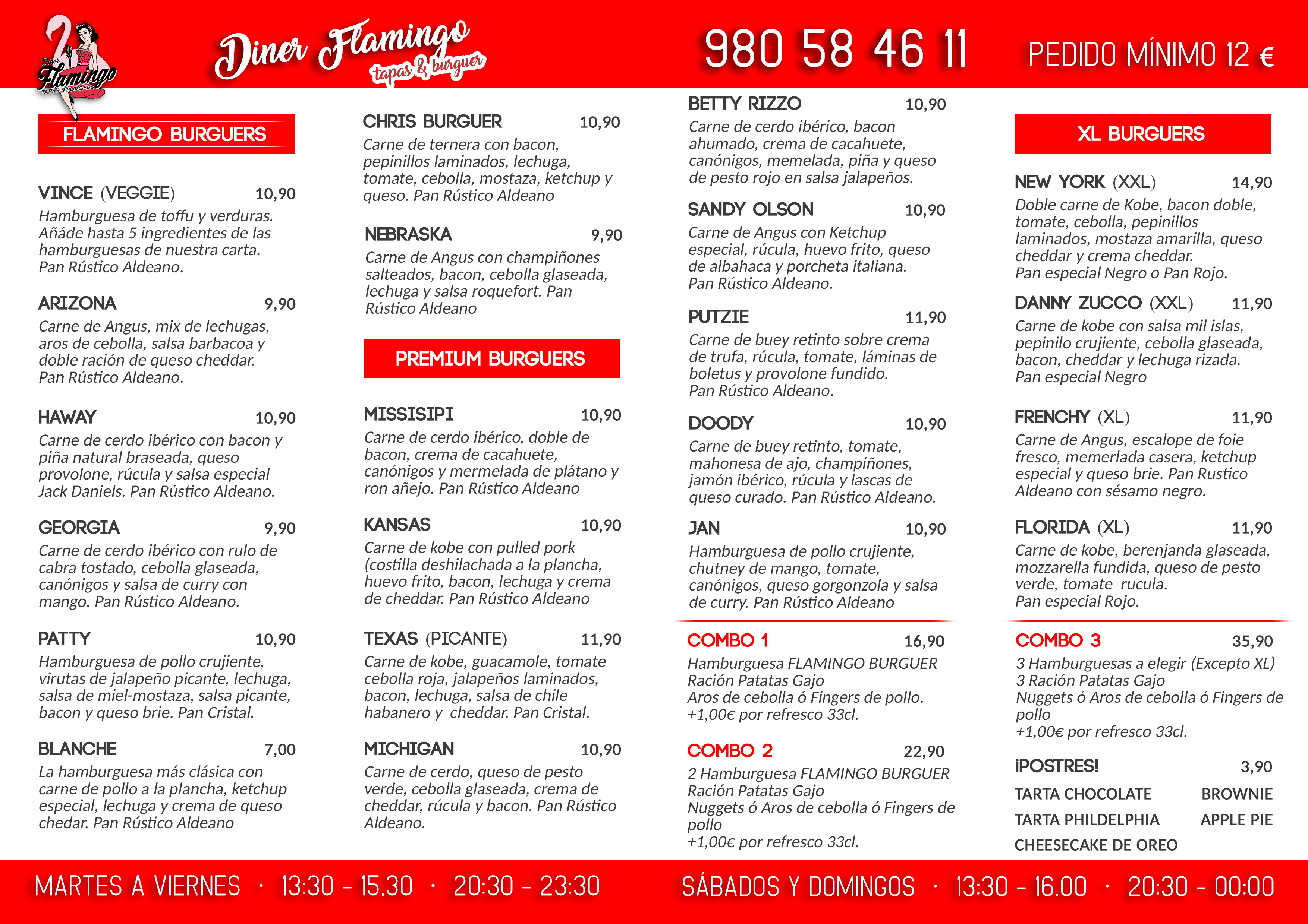 Carta Diner Flamingo Zamora